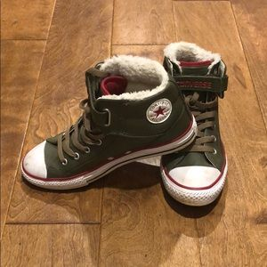 Converse Leather Winter Lined Sneakers